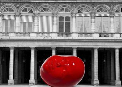 Globus - devant le Ministère de la Culture - Jardins du Palais Royal - Photo montage