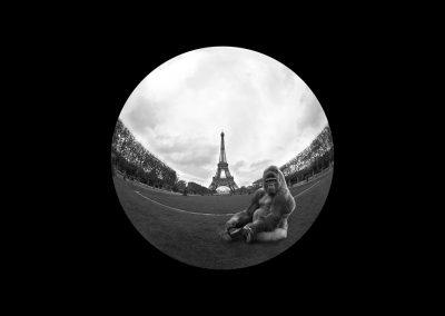 Polyptyque - La Tour Eiffel - Yaoundé au Champ de Mars - Photo montage