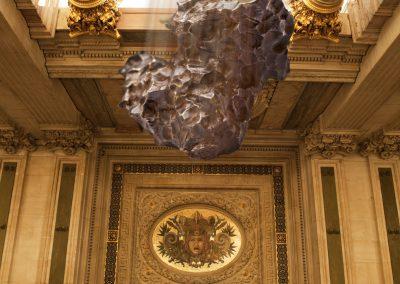Photo de météorite - montage - Commande Lucien Paris pour le catalogue de la vente aux enchères