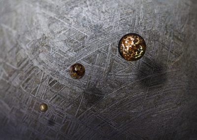 Photo de météorites - montage - Commande Lucien Paris pour le catalogue de la vente aux enchères
